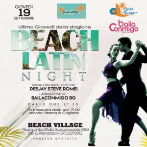 BEACH LATIN NIGHT – Beach Village Scanzorosciate